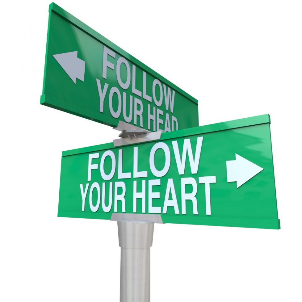 bigstock Follow Your Heart Two way St 9445310